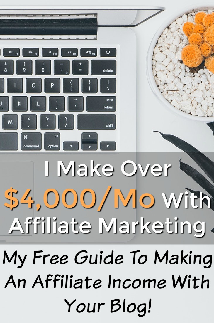 What's the best way to make money with a blog? In my opinion it's affiliate marketing! I make over $4,000 a month in affiliate commissions and I've put together a free guide of how to make an affiliate income with your blog!