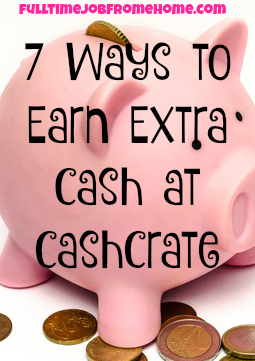 If you're looking to make extra cash online, here's 7 ways to make an extra income using CashCrate!