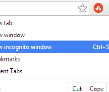 How to start a new incognito window!