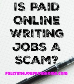 If you're looking to get paid to write online, take a look at PaidOnlineWritingJobs.com and see if it's a scam!