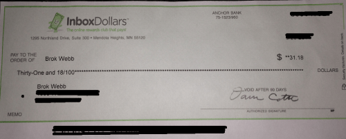 Inbox Dollar Payment Proof