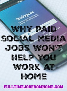 Learn Why Paid Social Media Jobs Won't Help you Work AT Home On Social Media!
