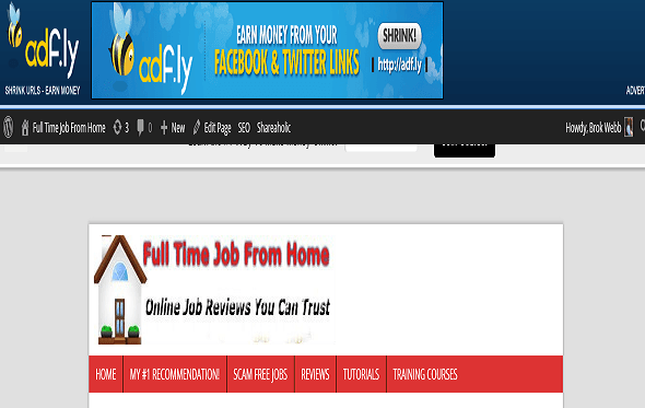 example of adfly banner ad