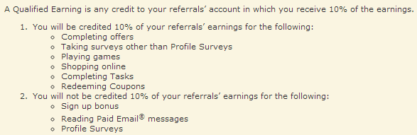 send earnings review qualified referral earnings