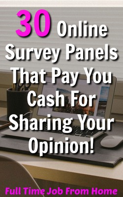 Are You Looking For Legitimate Survey Panels That Will Pay You Cash For Your Opinion. Here's 30 that actually pay!