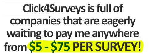 Click 4 Surveys Scam