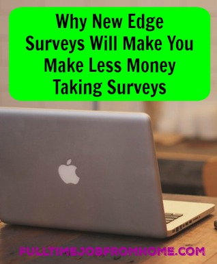 Learn Why New Edge Surveys won't make you money taking paid online surveys