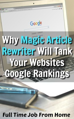 Does Spinning Articles Work? Learn Why Magic Article Rewriter Will Kill Your SEO with Google and Other Search Engines!