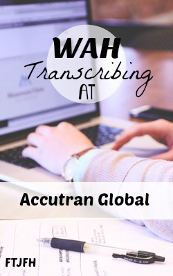 Learn How You Can Get Paid To Work At Home as a Transcriber For AccuTran Global!