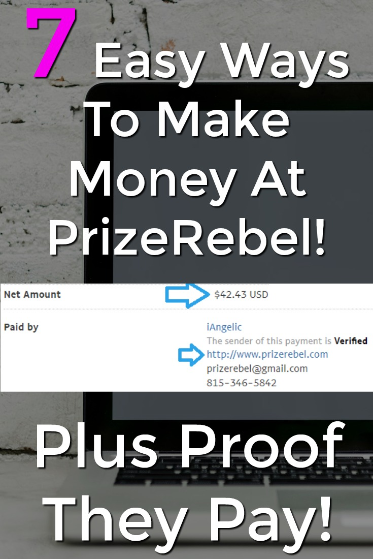 Learn How you can make extra money at prizerebel with these 7 easy ways! I'll even show you proof they pay!