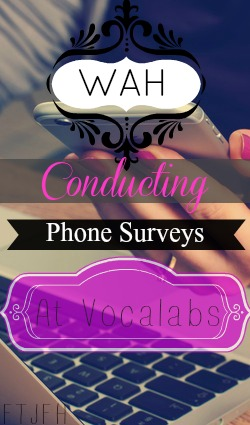 Learn How You Can Work At Home Conducting Over the Phone Surveys For Vocalabs. Pay is $2.50 Per Call. Payments Made Via PayPal!