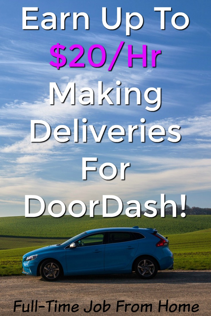 Learn How You Can Make Up To $20 an Hour Making Deliveries In Your City with DoorDash!