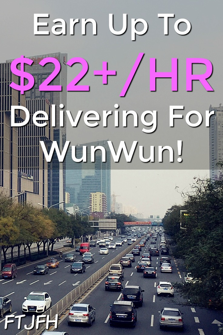 Did you know you could get paid to make deliveries in your city? With WunWun you could make up to $22 an hour!