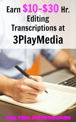 Learn How You Can Make Up To $30 an Hour Working As A Transcription Editor for 3Play Media!