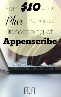 Learn How You Can Earn Over $10 Working At Home As A Transcriber For Appenscribe!