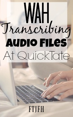 Learn How You Can Work At Home Transcribing For QuickTate. They offer general and medical transcription jobs!