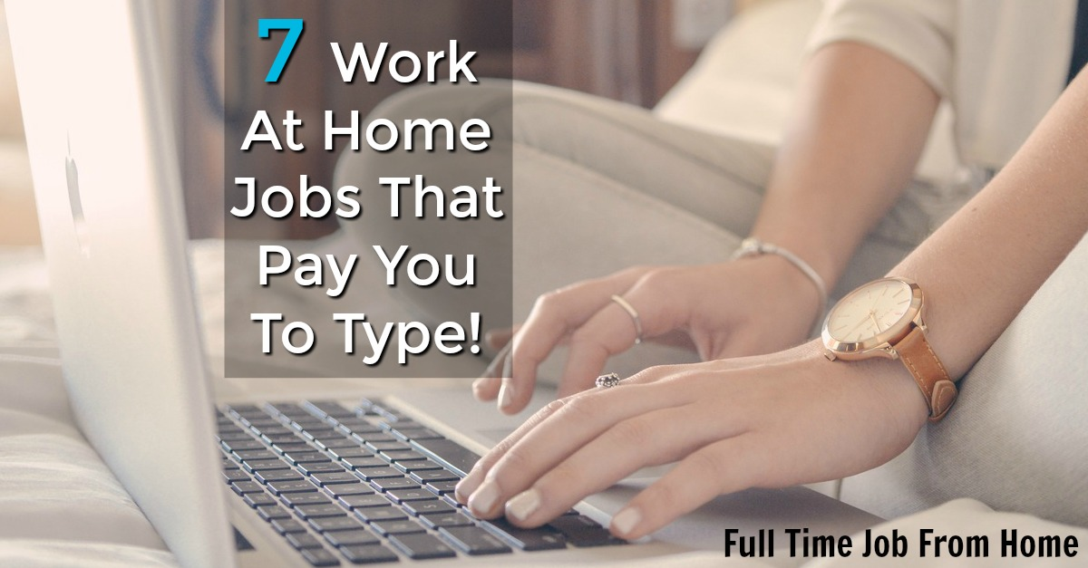 If you'd like to get paid to type, check out these 7 Work At Home data entry jobs! Most require no to little experience!