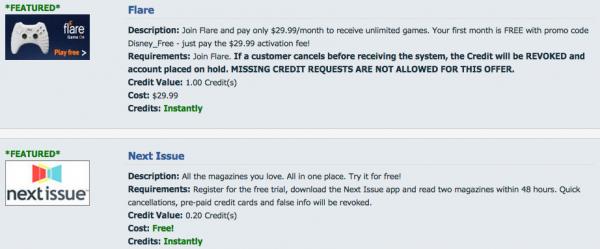 instant rewards scam offers