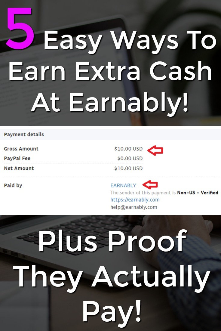 Learn 5 Easy Ways to Make Extra Cash At Earnably! Plus Proof that they actually pay!