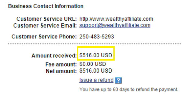 First ever $500 affiliate payment