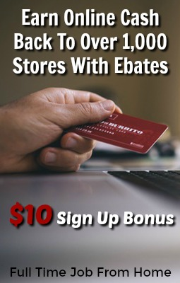 Learn How You Can Get Paid To Shop Online To Over 1,000 Stores With Ebates. $10 Sign Up Bonus, Payments Made Via PayPal, Direct Deposit, and Mailed Check Quarterly!