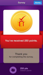 survey mini rewards