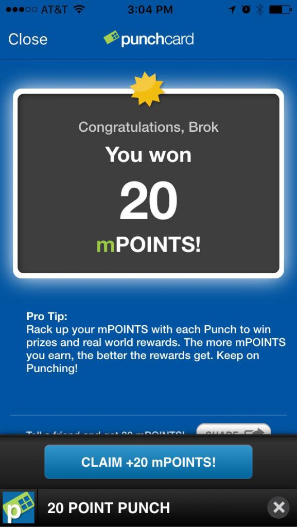 punchcard app reward points