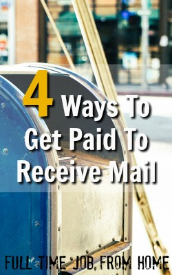 Learn 4 Ways You Can Get Paid To Receive Mail At Home Most Members Make Around $10 a Month or More Just For Being A Mail Decoy!