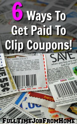 Learn 6 Ways You Can Get Paid To Use Coupons You Clip. Not Only Will You Save Money, But You'll Also Earn Some Extra!