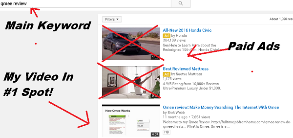 how to rank a youtube video first in search results