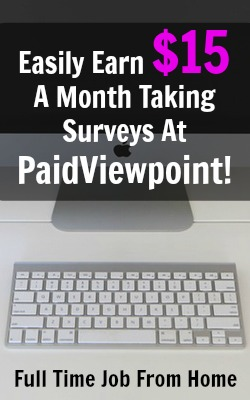 Check out my guide on how to earn more money at PaidViewpoint. PaidViewpoint is one of my favorite surveys sites because every survey is short usually 10 questions and you qualify for every survey they send you!