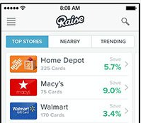 raise.com app review get paid to sell gift cards