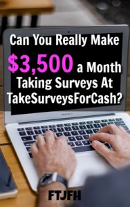 Take Surveys For Cash Says You Can Make $3,500 a month taking surveys. Is it true? Well lets see!