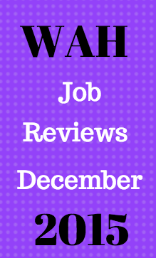 All Work At Home Job Reviews Published in December 2015 at fulltimejobfromhome.com