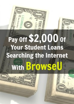Learn How You Can Pay Off Up To $2,000 Of Your Student Loans Just By Searching The Internet with BrowseU