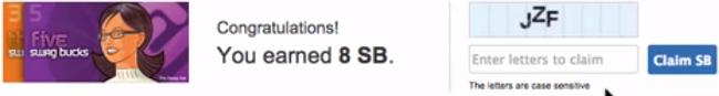 Swagbucks search reward