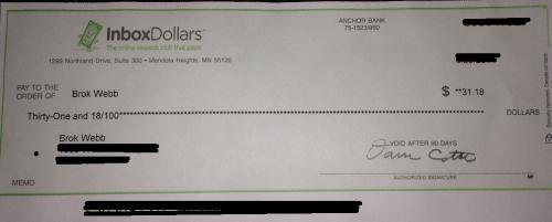 InboxDollars Payment Proof
