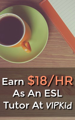 Did you know you could work at home as a english second language teacher? VIPKid hires a work at home position paying up to $18 an hour!