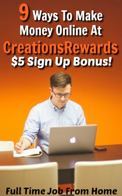 CreationsRewards is a Rewards Site That Offers 9 Ways To Earn Plus Has PayPal Start At $5!