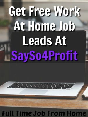 Learn How You Can Get Free Work At Home and Make Money Online Leads Sent Directly To Your Email At Say So 4 Profit!