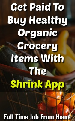 Do you buy healthy organic items at the grocery store? The Shrink App will pay you cash back! This might be the perfect cash back app for you!