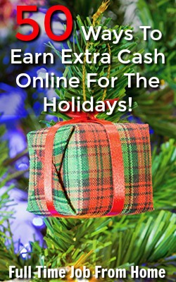 The Holidays are right around the corner, which means extra money spent on gifts! If you're looking for extra money, there's tons of ways to make some online. Here's 50 Ways To Make An Extra Income Online For the Holidays!