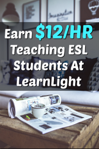 LearnLight Hires a Work At Home ESL Tutoring Position that Pays $12 an Hour!
