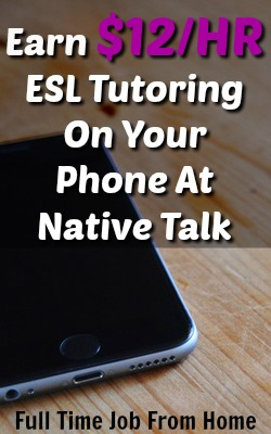 Learn How You Can Make $12 An Hour Tutoring ESL students on your mobile device!
