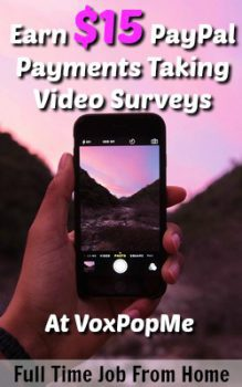 Learn How You Can Get Paid To Take Short 15-60 second video surveys with the VoxPopMe app. Pays via PayPal!