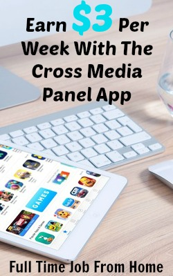 Learn How You Can Earn Up To $3 A Week By Installing the Cross Media Panel App On Your Browser, Phone, and Tablet!
