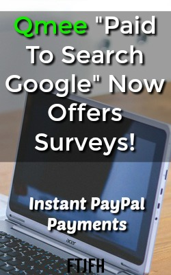 Qmee, one of my favorite extra income sites that pays you to search Google now offers surveys. Instant PayPal payments and no minimum cash out amount!