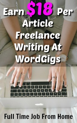 Learn How You Can Make Up To $18 Per Standard Article Freelance Writing At WordGigs!