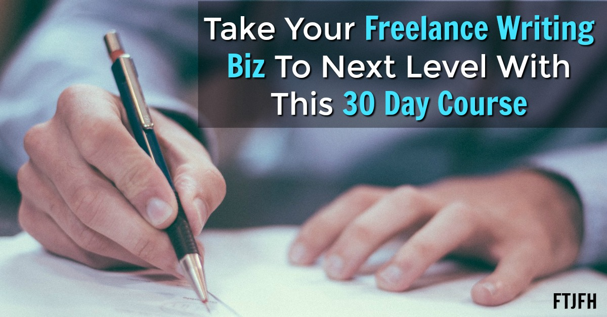 Would You Like To Work At Home As A Freelance Writer? Learn How To Start A Profitable Freelance Writing Business in Just 30 Days!