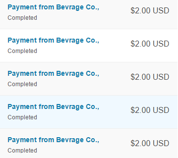 beverage app payment proof